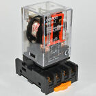 (2PCs) NEW 10A Omron MK2P-I Cube Relays 220~240V AC Coil with PF083A Socket Base