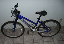 Raleigh Adult M20 21 speed Mountain Bike with Shocks & Al Frame (Blue/White)