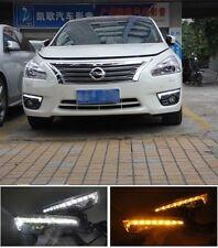 LED DRL daytime running light lamp fog lamps for 2013-2015 Nissan Teana altima