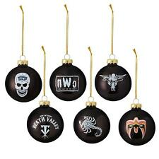 New  WWE LEGENDS Ornament Set (6) Rock Ultimate Warrior Sting Stone Cold NWO ga