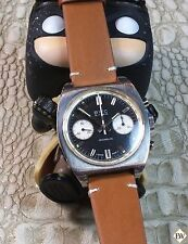Freshly Serviced Vintage BWC Chronograph 7733 Watch Panda Dial Military WWar