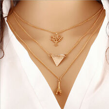 New Women Accessories Sweater Chain Multilayer Metal Clavicle Necklace Gift