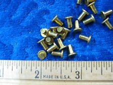 25 Solid brass 1/8 X 1/4 SCA armor rivets LARP FLAT steampunk costume model