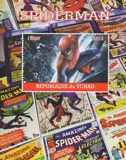 SPIDERMAN MARVEL CLASSIC COMIC BOOK IMAGES TCHAD 2016 MNH STAMP SHEETLET