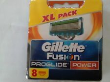 "GILLETTE ""Fusion PROGLIDE"" POWER ... REPLACEMENT BLADES. 1 X 8 PACK."