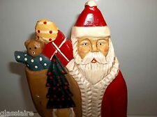 Midwest Of Cannon Falls Carved Wood BELSNICKLE SANTA 13.5""