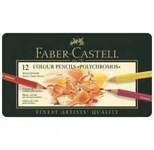 Faber Castell 12 colour pencils polychromos crayon art lot neuf pro new dessin