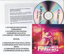 FUTURECOP! MISANTHROPIST WOLF & SUPERHEROES 7 TRACK PROMO CD [FOOL/AZURE BLUE]