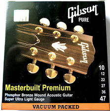 4 Sets Gibson 10-47 Light Masterbuilt Phosphor Bronze Ac Guitar Strings SAG-MB10