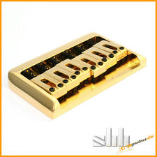 Bridge Steg Saitenhalter hard tail PRS-Style string through gold