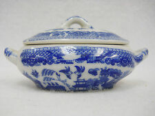 Vintage Blue Willow Childs Toy Dishes Tea Set - Covered Casserole Occupied Japan