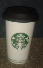 Starbucks Coffee Siren Logo Takeaway Cup Style Mug with Lid - VGC