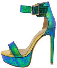 Exotic Dancer Shoes Open Toe Stiletto High Heels Platform Pumps Sandals Size H78