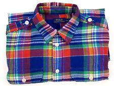 POLO Ralph LAUREN Madras SHIRT Multicolor MEDIUM Lightweight COTTON Indian MENS*