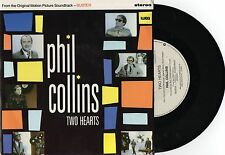 "PHIL COLLINS - TWO HEARTS 7"" 45 VINYL RECORD w PICT SLV - 1988"