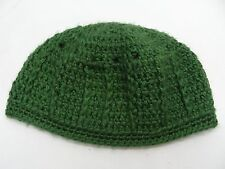 GREEN - HAND KNITTED - TODDLER SIZE - BEANIE HAT STOCKING CAP!