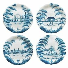 Juliska Country Estate DELFT BLUE PARTY PLATES  SET OF FOUR