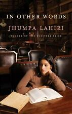In Other Words by Jhumpa Lahiri (2016, HBDJ) Signed First Ed