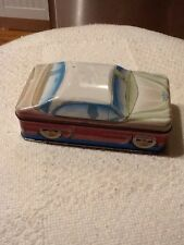 IAN  LOGAN'S CARLECTABLES TIN CAR AUTOMOBILE STORAGE CONTAINER  1982 ENGLAND