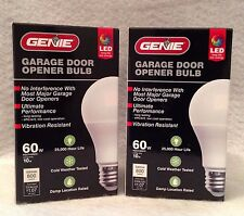 2pks Genie LED Light Bulb 60w Garage Door Opener Efficient Low Cost 25,000 Hours