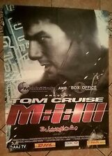 MISSION IMPOSSIBLE 3   - ORIGINAL   ASIAN CINEMA POSTER . 37   X  27   INCHES