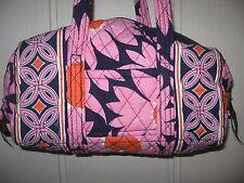 VERA BRADLEY Loves Me SMALL Duffle Duffel Bag TOTE PURSE 5.5 x 10.5 x 5 EUC