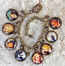 NANCY DREW Altered Art GLASS DOME CHARM BRACELET Handmade From VINTAGE IMAGES