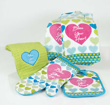 Bless Your Heart Southern Oven Mitt, Hot Pad, and Dish Towel, Set of 5