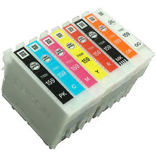 Genuine Epson R2000 ink cartridge 159 Set of 8x INK R2000 A3 Printer T1591-T1598