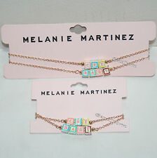 Melanie Martinez Cry Baby 3D Baby Blocks Double Strand Necklace & Bracelet Set