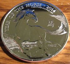 2014 British Britannia Lunar Year of the Horse 1 Troy Oz. .999 Silver Coin #3