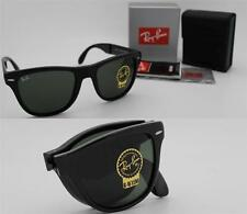 New Authentic Ray-Ban Folding Wayfarer RB 4105 601 Black Frame / Green Lens 54mm