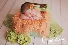 Peaches Curly Sheep Basket Stuffer Faux Flokati Fur, Newborn Photography Prop