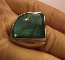 LOT OF 3 Sterling Silver .925 LARGE GENUINE VINTAGE Gemstone Rings VERY HEAVY
