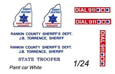 RANKIN COUNTY Police Mississippi 1/24th - 1/25th Waterslide Decals