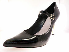 Vince Camuto Callea Womens Pointe Toe Mary Janes Heel Black Patent Shoes Size 11