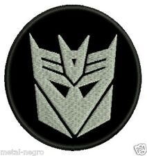 TRANSFORMERS DECEPTICONS EMBROIDERED PATCH ANIME ROBOT CARTOON RETRO Metal Negro