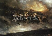 Viking Norse Mythology Gods Wild Hunt of Odin 7x5 Inch Print