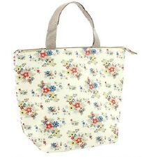 Woven Cool food Bag Lunch Box flower insulated sandwiches summer daisy vintage