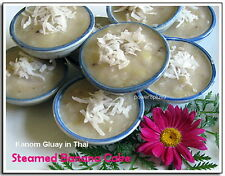 Ceramic Bowl Cup Mold Thai Traditional Dessert Steamer Coconut Custard Sauce Top