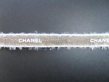 Chanel Pale Gold  with  white edge Christmas Ribbon in metres (100cms)