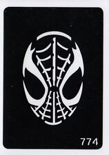 GT774 Body Art Temporary Glitter Tattoo Stencil  Spiderman