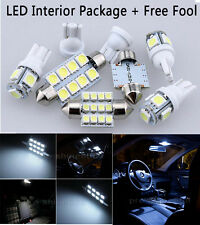 6X Bulb Car LED Interior Lights Package kit For 1997-2001 Honda CR-V White NQ