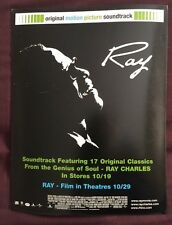 "RAY CHARLES ""Ray: Motion Picture Soundtrack"" RARE PROMOTIONAL WINDOW CLING"