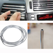 4M DIY Silver Car Interior Decor Door Chrome Moulding Trim Strip U Style