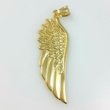 Men 18K Yellow Gold Plated Stainless Steel Angel Wing Chain Pendant
