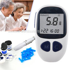 Blood Glucose Starter Kit Glucometer Sugar Meter Monitor Diabetes 50xtest strips