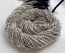 13 inch strand silver coated PYRITE faceted gem stone rondelle beads 2mm - 2.5mm
