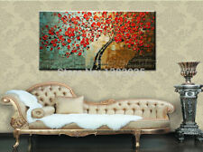 NOT FRAMED Oil Painting on Canvas Home Decor Wall Art picture Abstract red tree