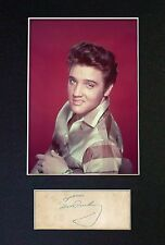 ELVIS PRESLEY - MEMORABILIA - Collectors Signed Photo + FREE WORLDWIDE SHIPPING